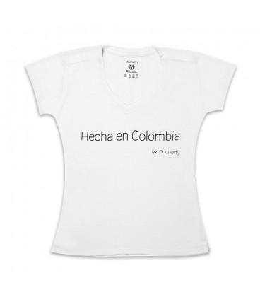 Hecha en Colombia Blanco